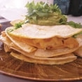Chicken Chorizo and Shrimp Quesadillas with Smoky Guacamole